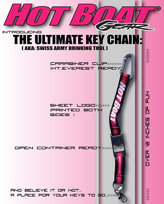 """HOT BOAT """"ULTIMATE KEY CHAIN"""" (HOT PINK)"""