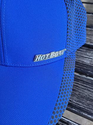 BLUE HOT BOAT METAL LOGO HAT