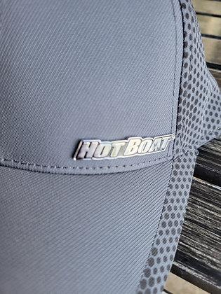 GRAY HOT BOAT METAL LOGO HAT