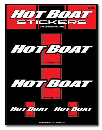 HOT BOAT CLASSIC STRIPE STICKER KIT (RED)