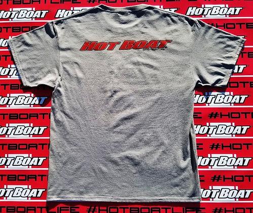 HOT BOAT ORGINAL LOGO T-SHIRT (GRAY)