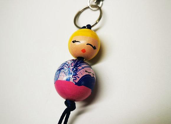 """Porte clé poupée """"Rosy"""""""