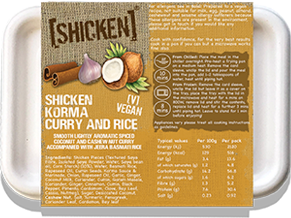[SHICKEN] Korma & Rice 400g [vegan] - Serves 1