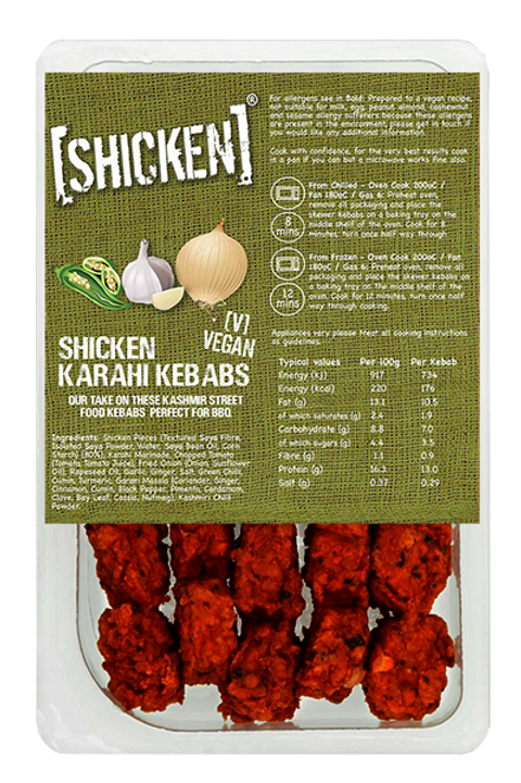 [SHICKEN] Karahi Kebab Skewers 240g [vegan]