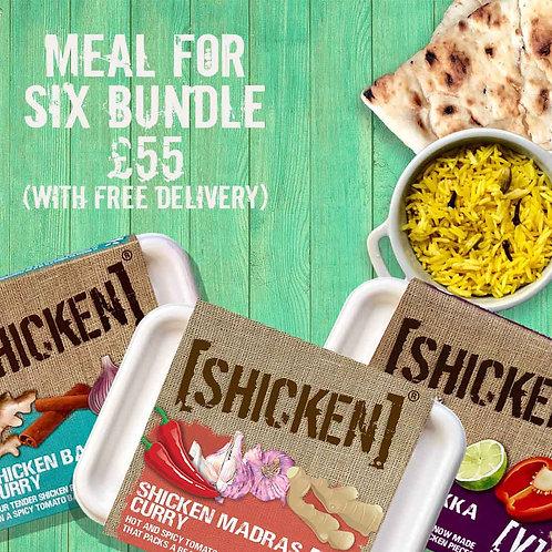 Meals-For-Six Bundle Box 3.13kg [vegan] Serves 6