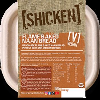 [SHICKEN] Flame Baked Naans 160g [vegan] - Serves 1 - Mild