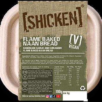 [SHICKEN] Garlic & Coriander Flame Baked Naans 190g [vegan] - Serves 2 - Mild