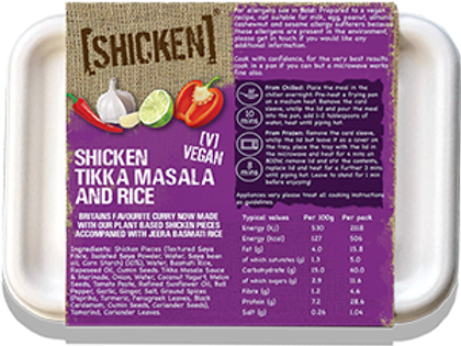 [SHICKEN] Tikka Masala & Rice 400g [vegan] - Serves 1