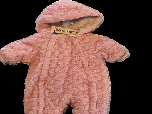 Pink fluffy padded onesie