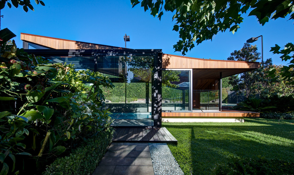 ORIGAMI POOL HOUSE