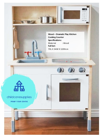 Wood -  Dramatic Play Kitchen Cooking Co
