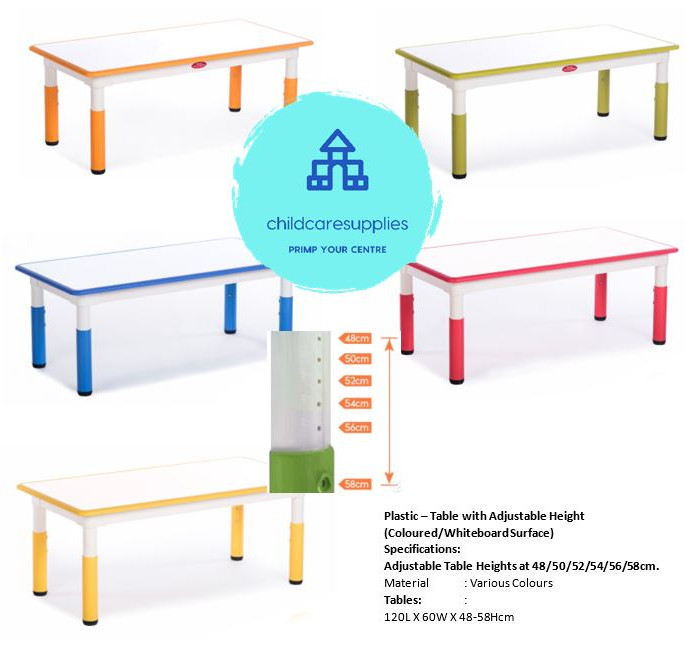 Plastic - Table with Adj Height (CH-WB S