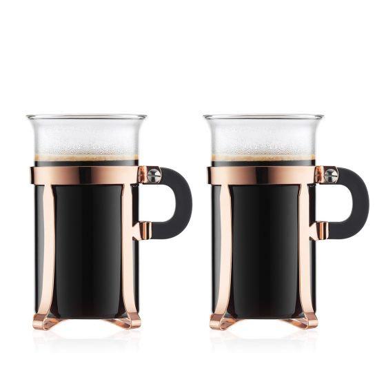 Chamboard Coffee Glass [2 Pcs] (10oz)