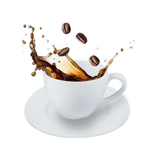 coffee splash isolated on white backgrou