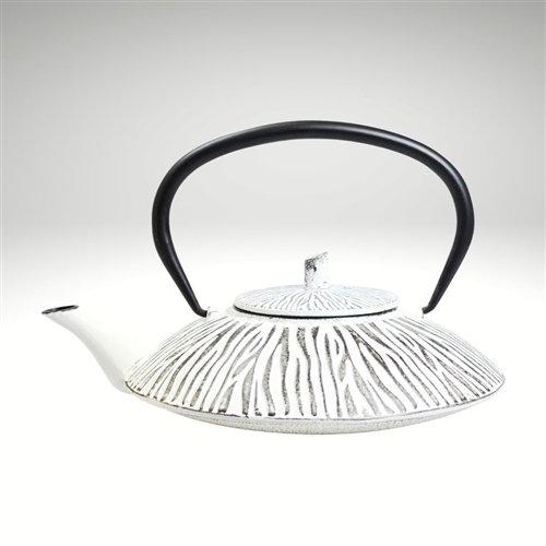 Shimauma Cast Iron Teapot [White] (34oz)