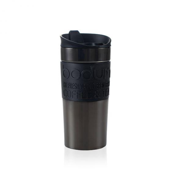 Travel Mug Gun Metal 12 oz
