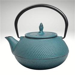 Arare Cast Iron Teapot [Teal] (40oz)