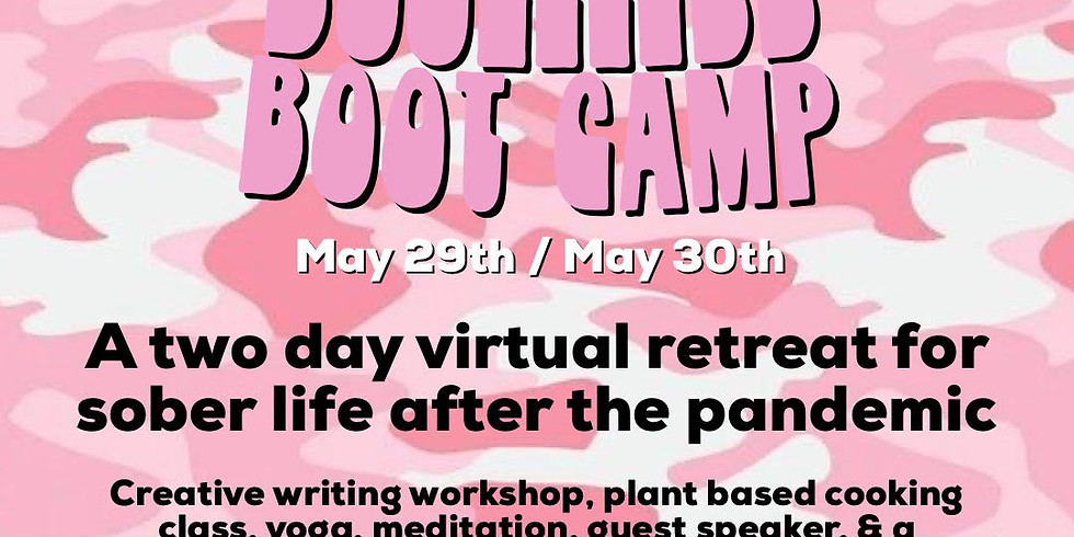 Boozeless Boot Camp Virtual Retreat hosted by Sober Otter and RPG