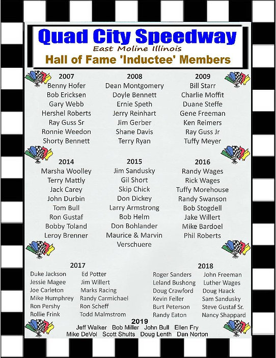 QCS Inductees Hall of Fame Collage 2019