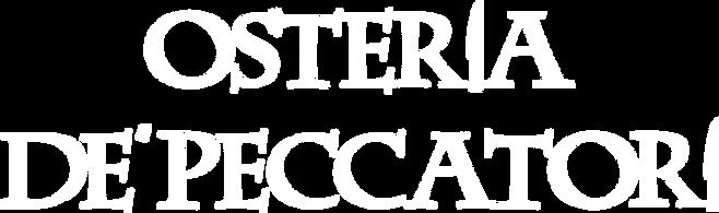 LOGO PER ESTESO BIANCO Logo osteria de p