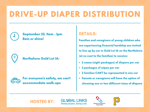 Global Links, Western PA Diaper Bank and Pittsburgh Pirates Collaborate to Host