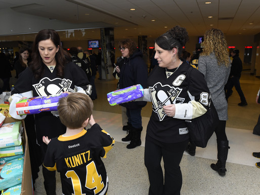 Food Bank and Pittsburgh Penguins aid in Diaper Drive