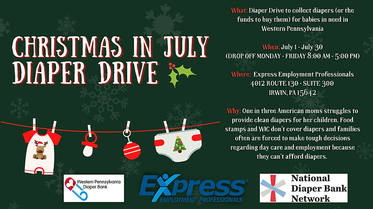 Christmas in July Diaper Drive