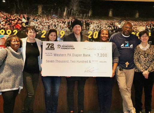 Pittsburgh Penguins Patric Hornqvist Donates to Western Pennsylvania Diaper Bank