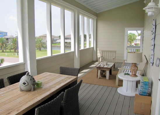 Outdoor living and dining area