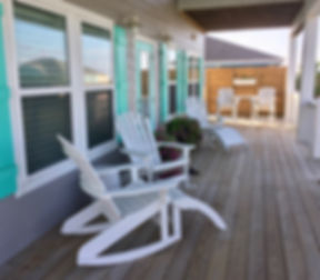 Beach house patio deck