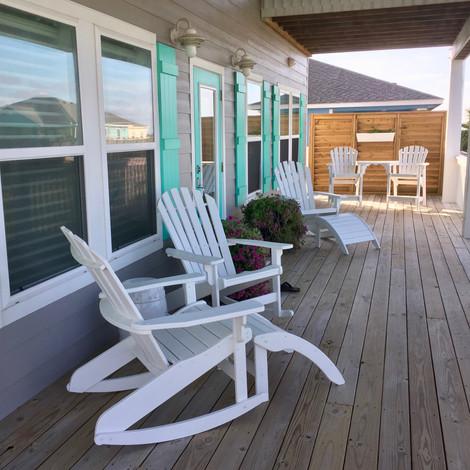 Beach house patio deck