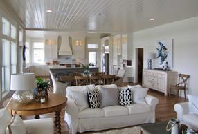 Modern beach home interior