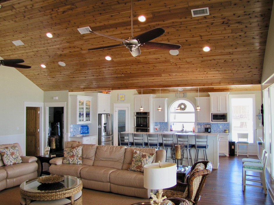 Modern open living area