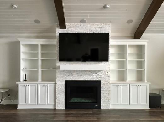 Living area entertainment center