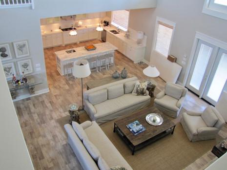 Interior design living and kitchen