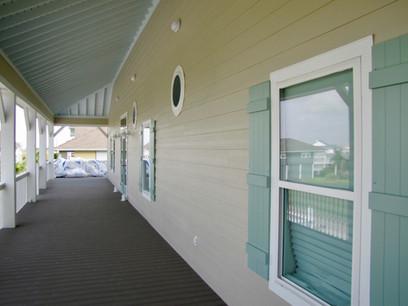 Wrap around deck