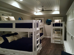 Bunk beds and lockers