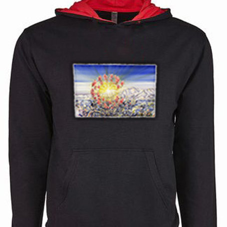 CO Unisex Black/Red French Hoodie