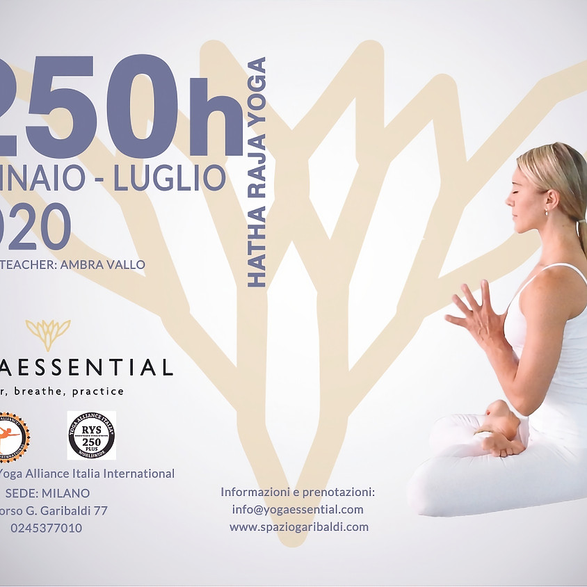 2020 Teacher Training 250h plus Hatha Raja Yoga con Ambra Vallo