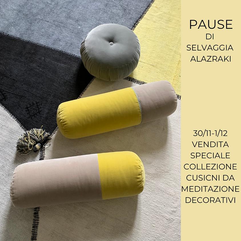 """La collezione di cuscini di meditazione """"Pause"""" di Selvaggia Alazraki"""