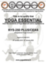 Yogaessential Yoga Alliance certificate.