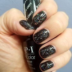 #christmas #nails #opi #gelcolor #black