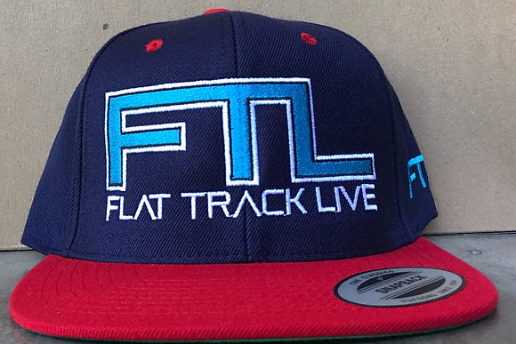 FTL Snapback Hat | Navy/Red