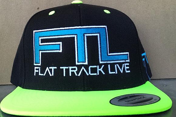 FTL Snapback Hat | Black/Neon Green