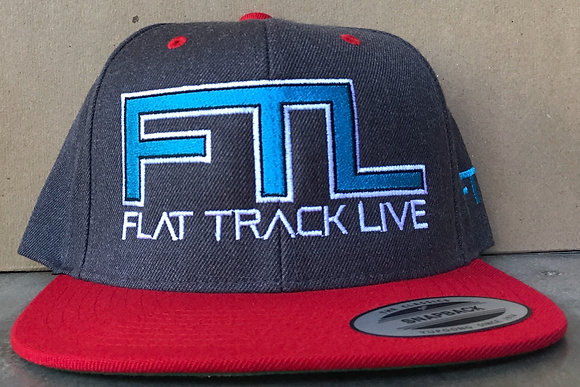 FTL Snapback Hat | Grey/Red