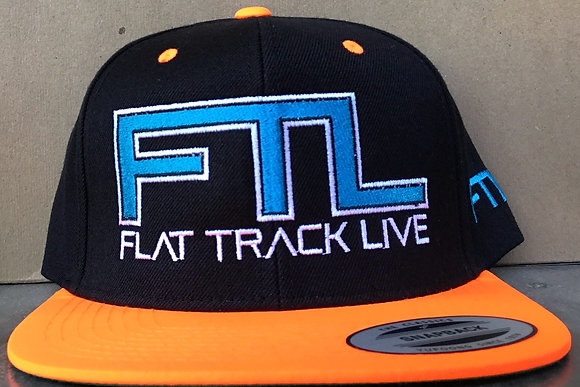 FTL Snapback Hat | Black/Orange