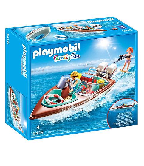 סירת מירוץ עם מנוע תת ימי