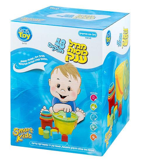 מגדל כוסות ענק 18 חלקים - SMART KIDS