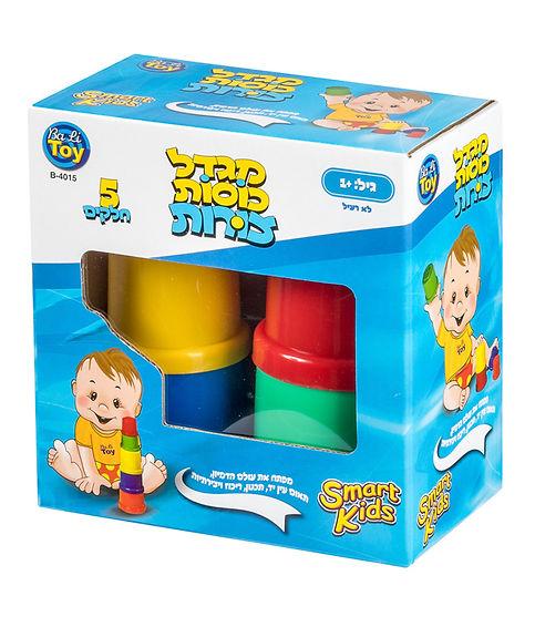 מגדל כוסות צורות 5 חלקים - SMART KIDS