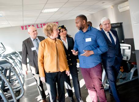 Conférence de presse de France Active avec la Ministre du Travail. Reportage photo.